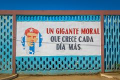 Che Guevara malowidło ścienne w Baracoa, Kuba obrazy royalty free