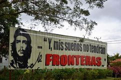 Che Guevara Motto: and my dreams won´t have borders Royalty Free Stock Images