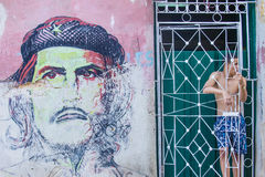 Che Guevara Mural Royalty-vrije Stock Foto