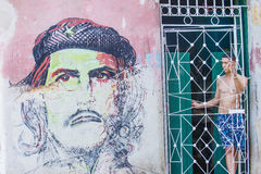 Che Guevara mural Stock Photo