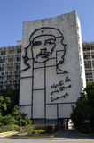 Che Guevara Mural in Havana (Cuba). Havana, Cuba - September 18, 2015: Che Guevara mural can be seen on the façade of the Ministry of the Interior building, in Stock Photo