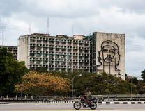 Che Guevara Mural, ministère de l'intérieur, La Havane, Cuba Images stock