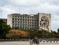 Che Guevara Mural, Ministry of the Interior, Havana, Cuba Stock Images