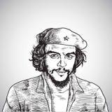 Che Guevara portreta Wektorowy rysunek Listopad 1, 2017 Obrazy Stock