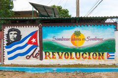 Che Guevara Propaganda Sign in Cuba Stock Photography