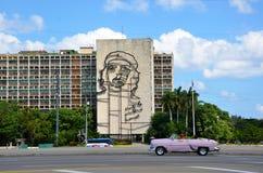 Che Guevara at Revolution square, Havana Stock Photos