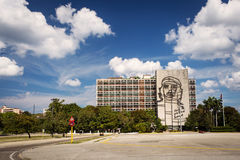 Che Guevara steel outline on Ministry of Interior in Havana, Cub Royalty Free Stock Image