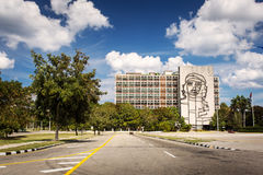 Che Guevara steel outline on Ministry of Interior in Havana, Cub Stock Photography