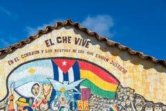 Che Guevara Themed Mural Arkivfoto