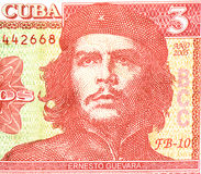 Che Guevara trzy peso banknot Zdjęcia Royalty Free