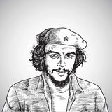 Che Guevara Vector Portrait Drawing 1er novembre 2017 Images stock
