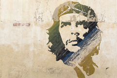 Che Guevara wall painting. Wall painting of Che Guevara in Havana, Cuba royalty free stock photo