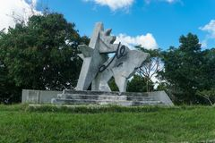 Che Guevara zabytek w lasach Terrazas, Pinar del Rio zdjęcia royalty free