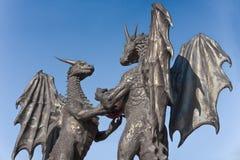 ` Che i draghi nel ` di amore scolpiscono a Varna, Bulgaria Fotografia Stock Libera da Diritti