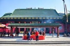 Che Kung Temple em Hong Kong foto de stock royalty free