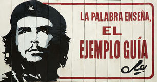 Che roadside propaganda board Royalty Free Stock Photography