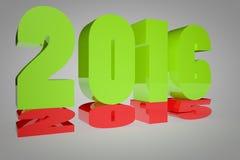 2015 che si trasforma in 2016 Immagini Stock Libere da Diritti