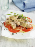 che szczypiorków escab cebul pomidorów tuńczyk Fotografia Royalty Free