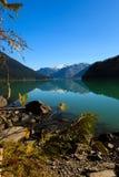 Cheakamus Lake. Mountain reflection on Cheakamus Lake at fall Royalty Free Stock Image