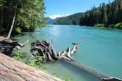 Cheakamus lake. BC Canada weekend hike Stock Images