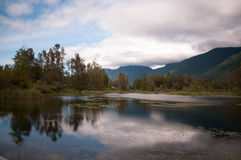 Cheam Lake view. Cheam Lake in Popkum area of Chilliwack BC Canada Stock Image