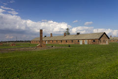 Cheap accommodation for Auschwitz prisoners Royalty Free Stock Images