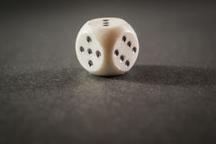 Cheap Black and White Die Stock Photography