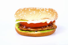 Cheap burgers Stock Image