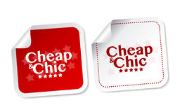 Cheap and Chic stickers Royalty Free Stock Photos