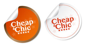 Cheap and Chic stickers Royalty Free Stock Photography