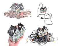 Cheap electrified house Royalty Free Stock Photos
