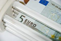 Cheap Energy saving lamp Stock Photography