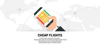 Cheap flights. The concept of travel. vector illustration
