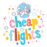 Cheap flights Royalty Free Stock Photography