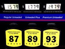 Cheap gas prices Stock Images