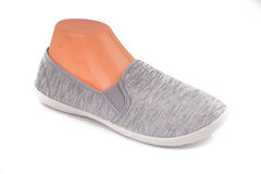 Cheap grey sport shoes. An image of cheap grey sport shoes Royalty Free Stock Image