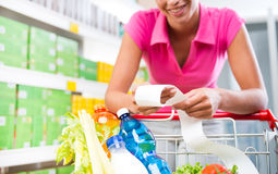 Cheap grocery store prices Royalty Free Stock Photos