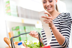 Cheap grocery store prices Royalty Free Stock Images