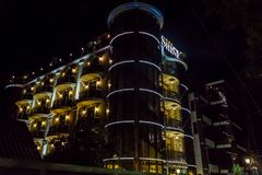 Cheap hotel in Sochi. Spherical Panorama royalty free stock images