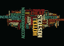 From Cheap Hotels To Backpackers Hostels Word Cloud Concept. From Cheap Hotels To Backpackers Hostels Text Background Word Cloud Concept Royalty Free Stock Photo