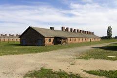 Cheap houses for Auschwitz Birkenau prisoners Royalty Free Stock Photos