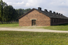 Cheap houses of the Auschwitz prisoners Royalty Free Stock Image