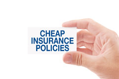 Cheap Insurance Policies Stock Photo