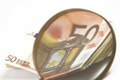 Cheap-Money-Euro-European currency Royalty Free Stock Photography