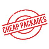 Cheap Packages rubber stamp Stock Photo
