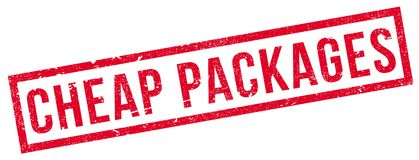 Cheap Packages rubber stamp Royalty Free Stock Photos