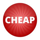 Cheap red sign, button, icon Royalty Free Stock Images