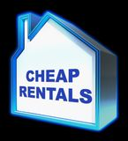 Cheap Rentals Meaning Low Cost 3d Rendering. Cheap Rentals House Meaning Low Cost 3d Rendering Royalty Free Stock Images