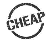 Cheap stamp. Cheap round grunge stamp. cheap sign. cheap stock illustration
