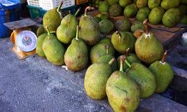 Cheaper by the Dozen. Jackfruits for sale in a roadside market Stock Image
